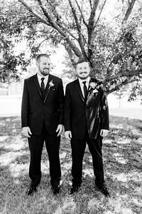 00593©ADHPhotography2020--ChanceKellyHayden--Wedding--AUGUST1bw