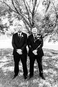 00595©ADHPhotography2020--ChanceKellyHayden--Wedding--AUGUST1bw