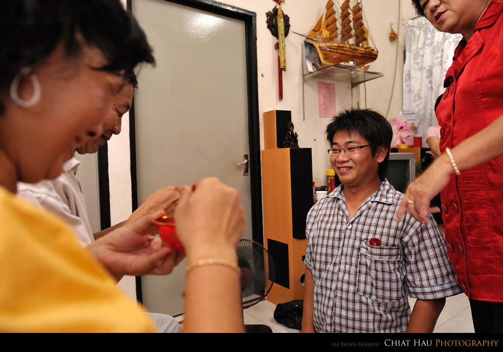 and some tea ceremony to the parents