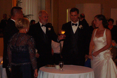 A toast to the new couple - Princeton, NJ ... July 5, 2008 ... Photo by Rob Page III