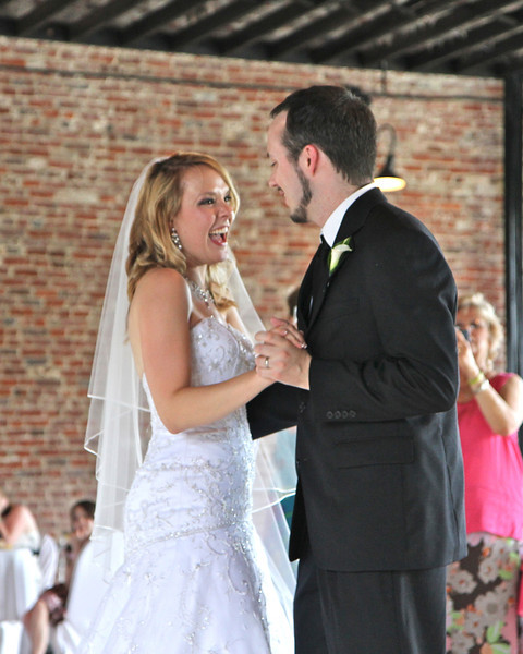 "Bride and Groom's first dance to ""Time After Time"" by Cyndi Lauper."