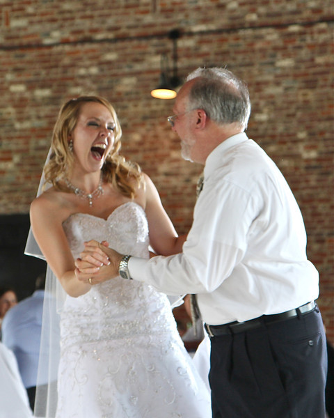 Now that's a happy bride!