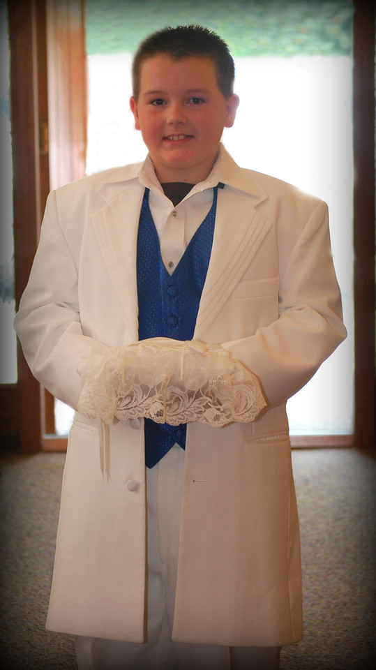 Blake...the handsome young ring bearer.