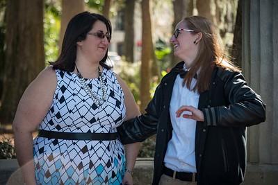 Leah & lisa laughing