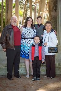 Leah, grandparents, boys, port