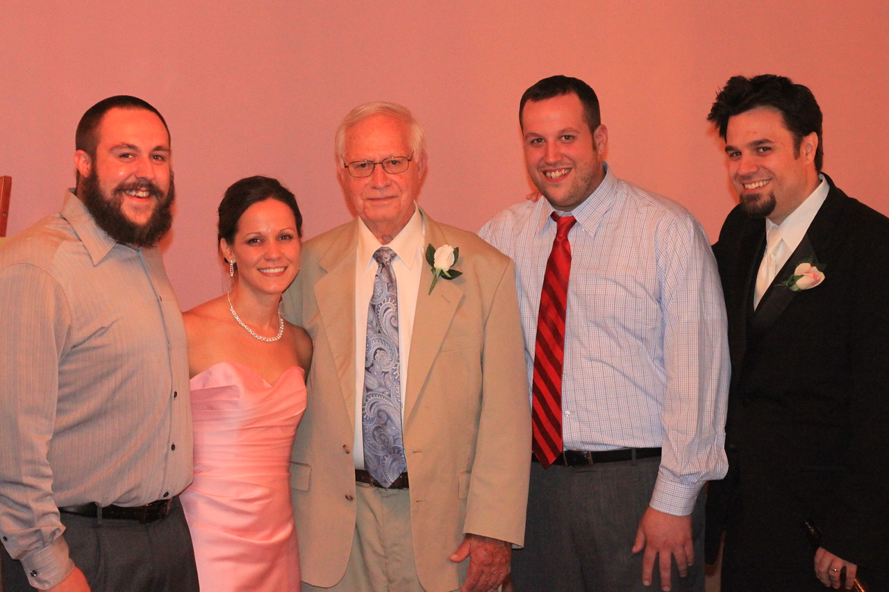 All his Grandkids, Michael, Katie, Ron, Jon, Chris