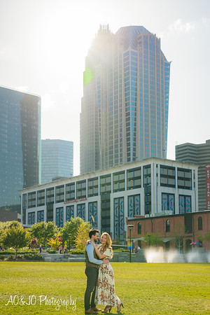 Christen & David's Charlotte Engagement Session :: First Ward Park :: AO&JO Photography & Videography (Charlotte Wedding Photographer)
