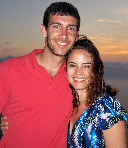 2011 Jun 7.  On this date Aaron put this picture on facebook.  I think it is a beautiful picture of Aaron and Christen on a Greek island.