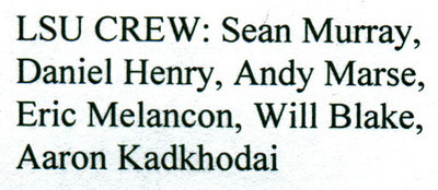 2011 Jul 2.  The names of the crew members.