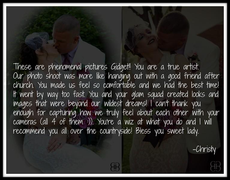 bride's testimonial