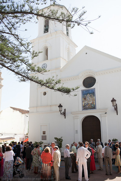 weddings at the iglesia de el salvador, nerja spain