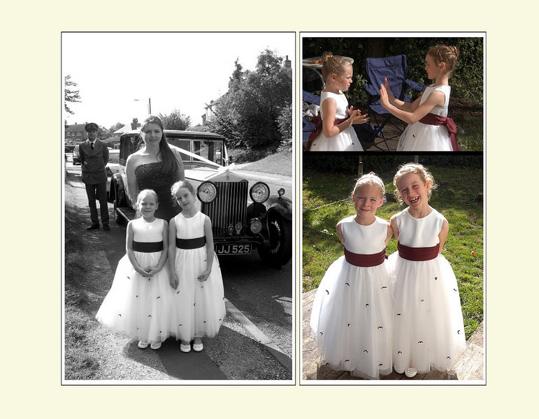"""<font color=""""red""""><b>Fourth foldout:</b></font> Bridesmaids before..."""