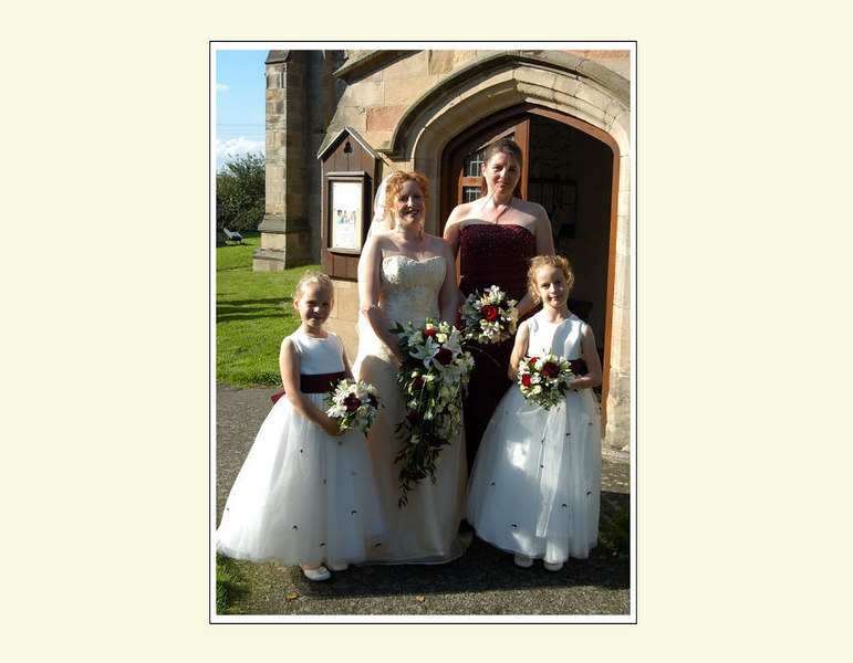 """<font color=""""red""""><b>Twelfth foldout:</b></font> Bridesmaid group (after ceremony)"""