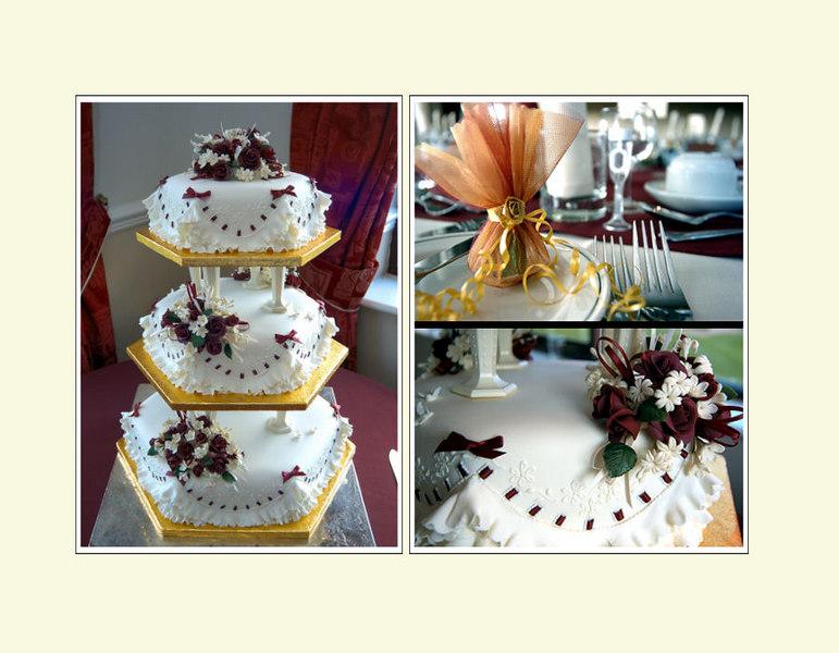 Cake portrait<br /> Leading into the reception photos
