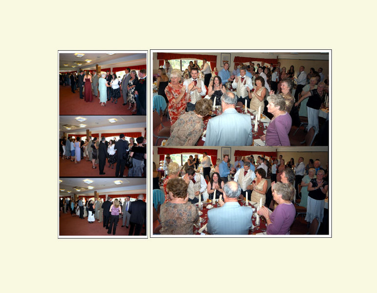 """<font color=""""red""""><b>Eighteenth foldout:</b></font> Greeting and toasting the couple"""