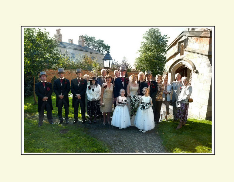 Bride's full family
