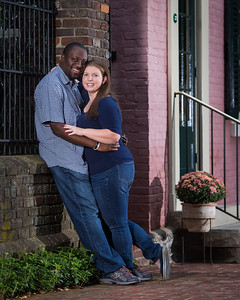 Andrea & Chris in downtown Lexington 4.15.14
