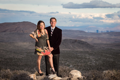 Andria & James overlooking Red Rocks Canyon, in Las Vegas 12.14.12.