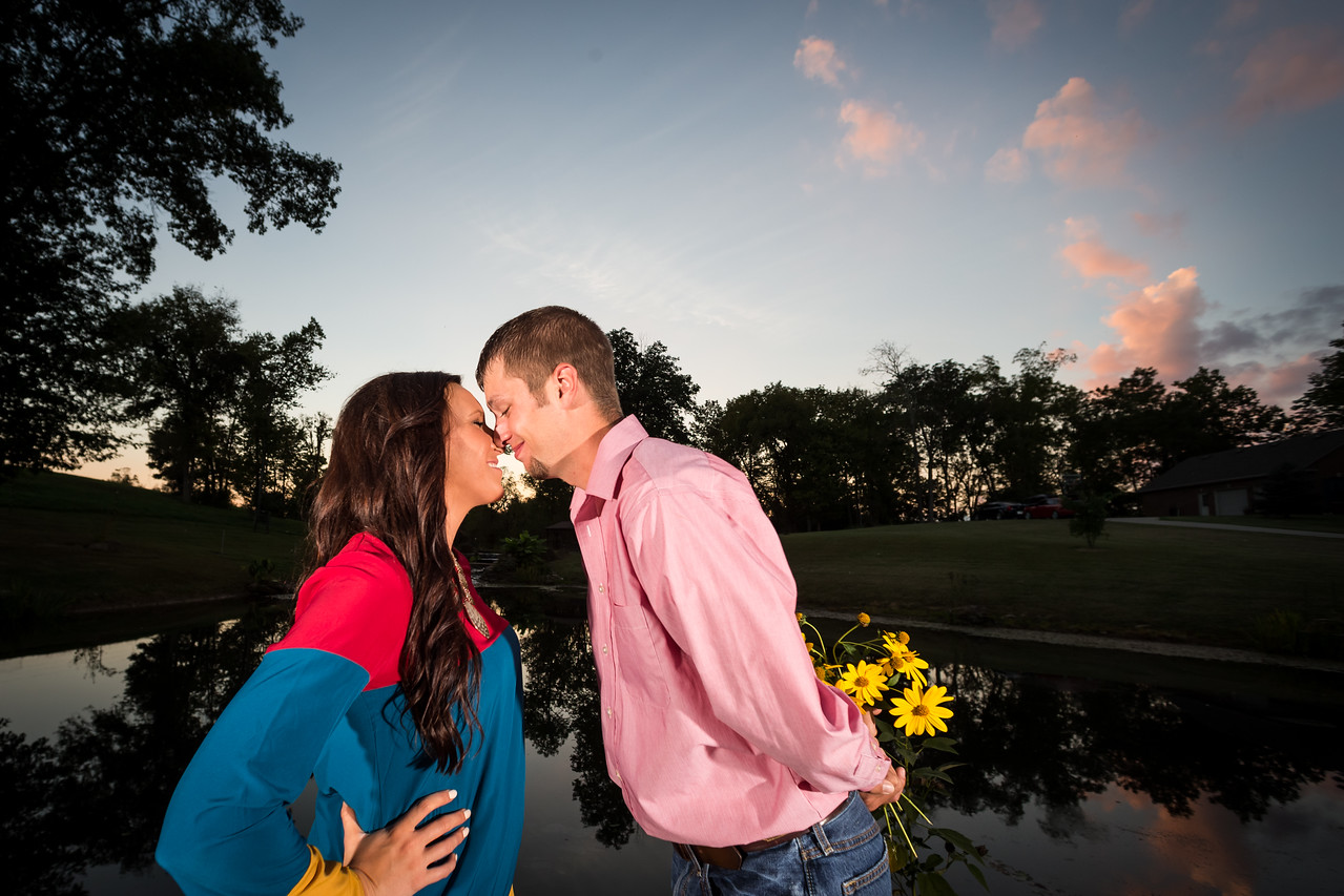 Ashley & Jared's engagements in Madison County 10.01.13.