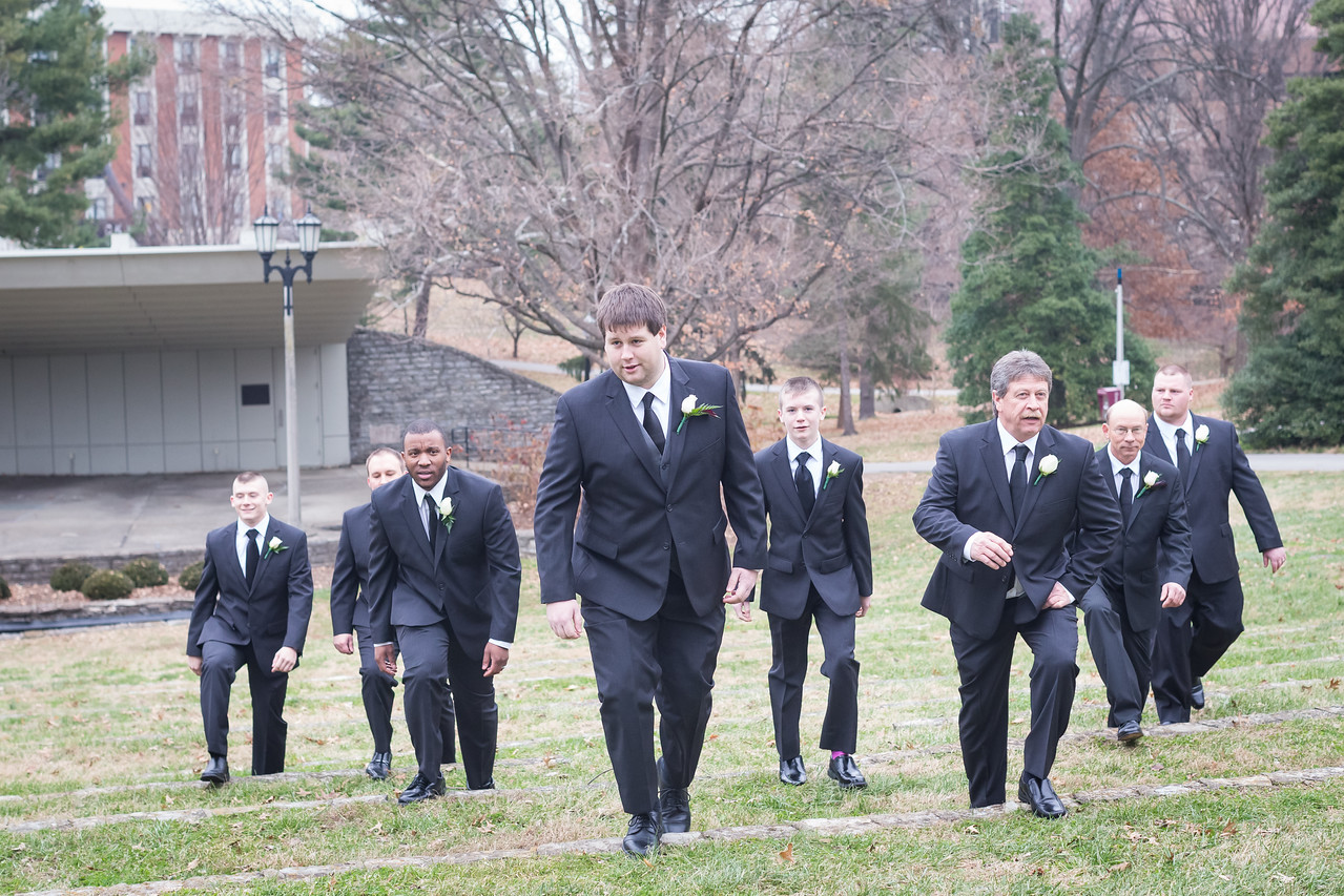Brandie & Derrick's wedding day on the EKU Camus in Richmond, Ky. 12.13.14