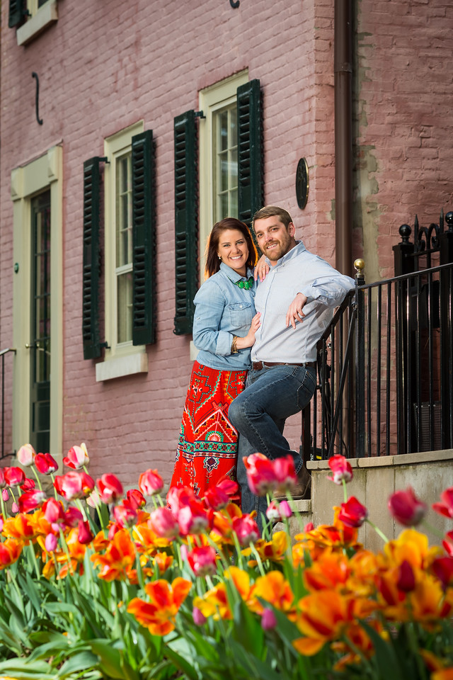 Emily & Ian's engagement pictures in Downtown Lexington 4.20.15.