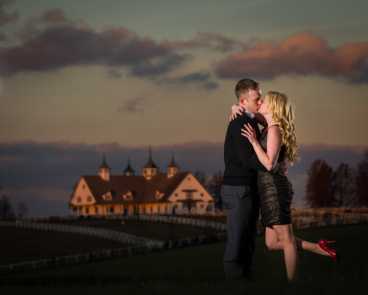 Emily & Matt's Engagements in Downtown Lexington and at Keeneland 11.23.13.