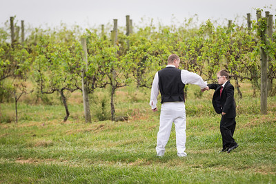 Erica & Josh's wedding day at Acres of Land Winery and Richmond Ky. 9.18.13.