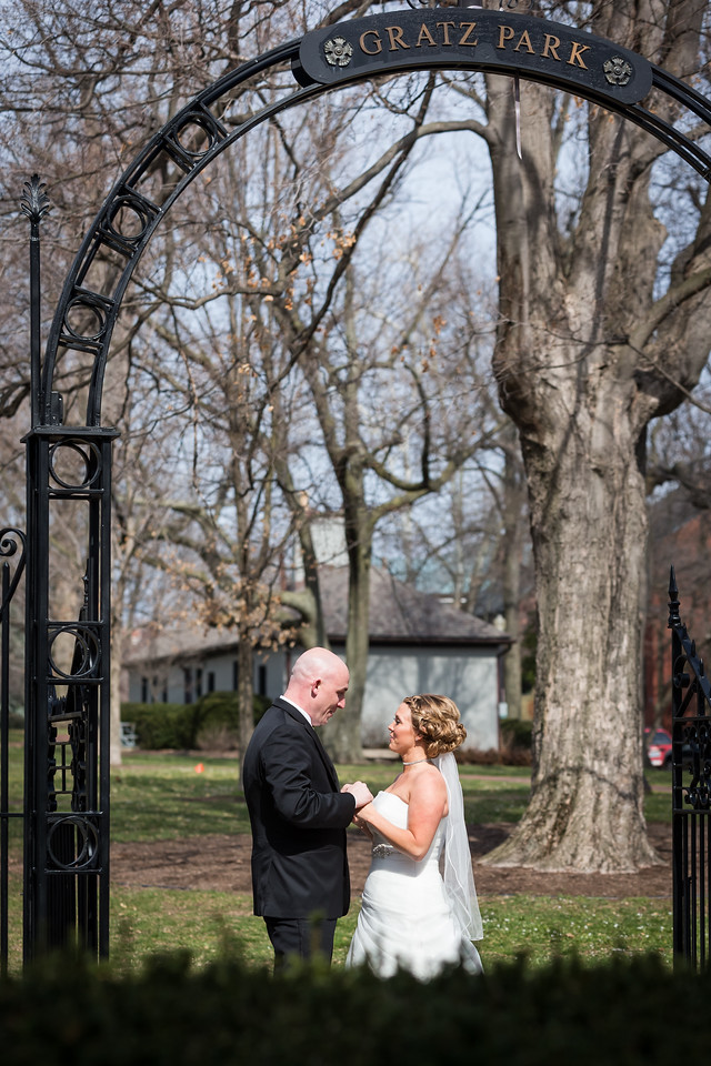 Heidi & JB, first look in Gratz Park 3.30.13.
