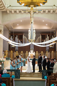 Kathryn & Blake's wedding day at Christ the King 7.19.14