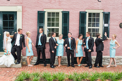 Kathryn & Blake's wedding day at Gratz Park 7.19.14