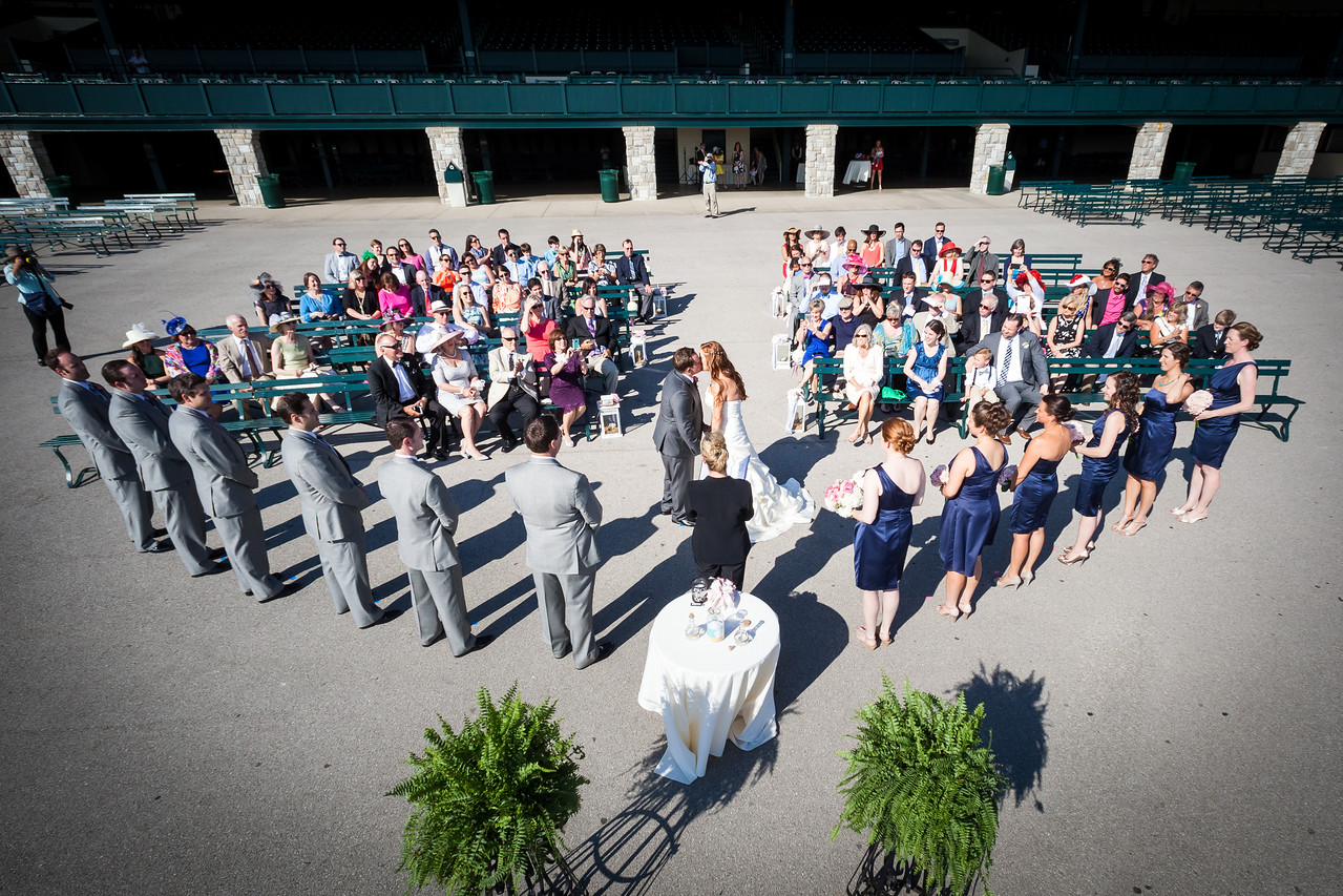 Katie & Eric's wedding day at Keeneland 5.24.15.