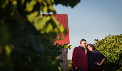 Keara & Erik's engagements at Talon Winery and Veteran's Park. 10.10.13.
