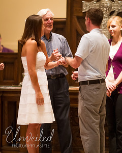 Kelly & Adam - Rehearsal at Central Christian Church, 7.27.2012.
