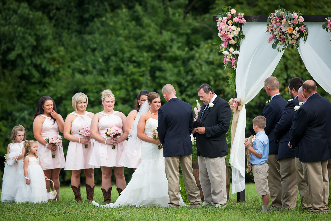 Kristen & Marshal's wedding day on the family farm in Jessamine County, Ky. 8.16.14