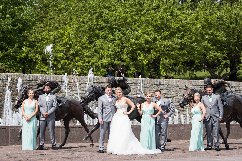 Kristen & Rory's wedding day at Keeneland and Thoroughbred Park.