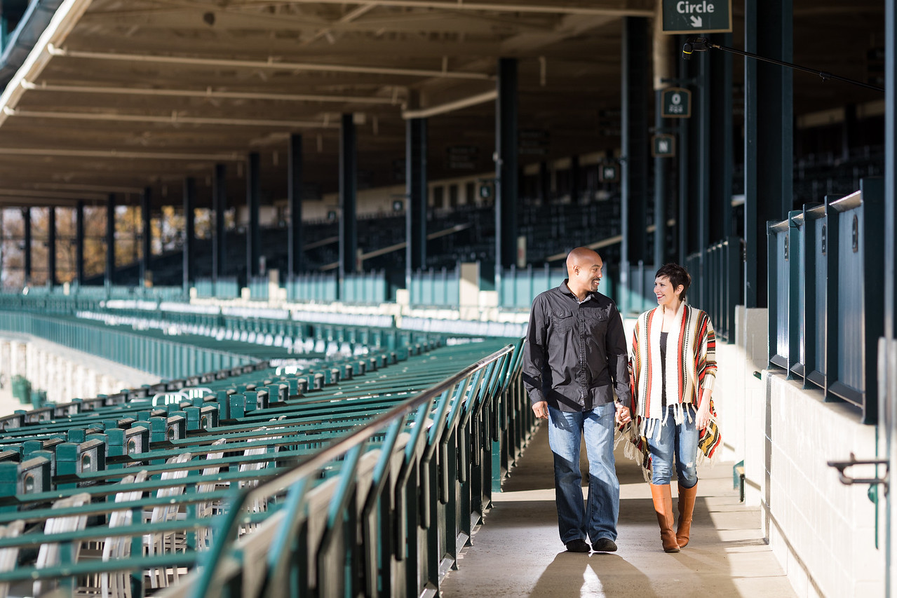Laura & Kimani at Keeneland 11.29.16
