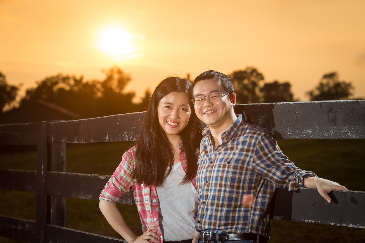 Lian & Li's engagement photos at Noble Spirit Farm 8.10.15.