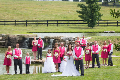 Mallory & Allen's wedding day along Pisgah Pike in Woodford County 7.12.14.