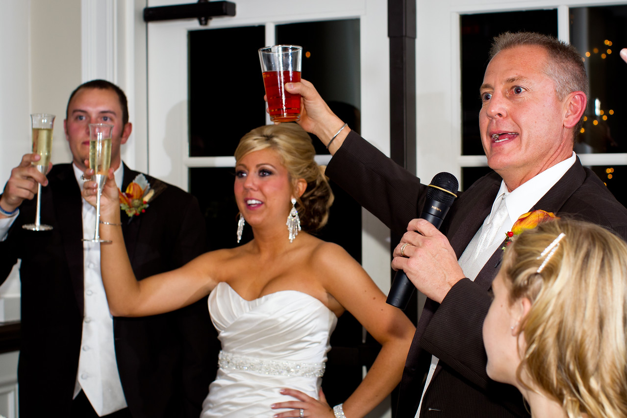Rachel & Mike, wedding reception at Keene Run Country Club, 10.01.2011