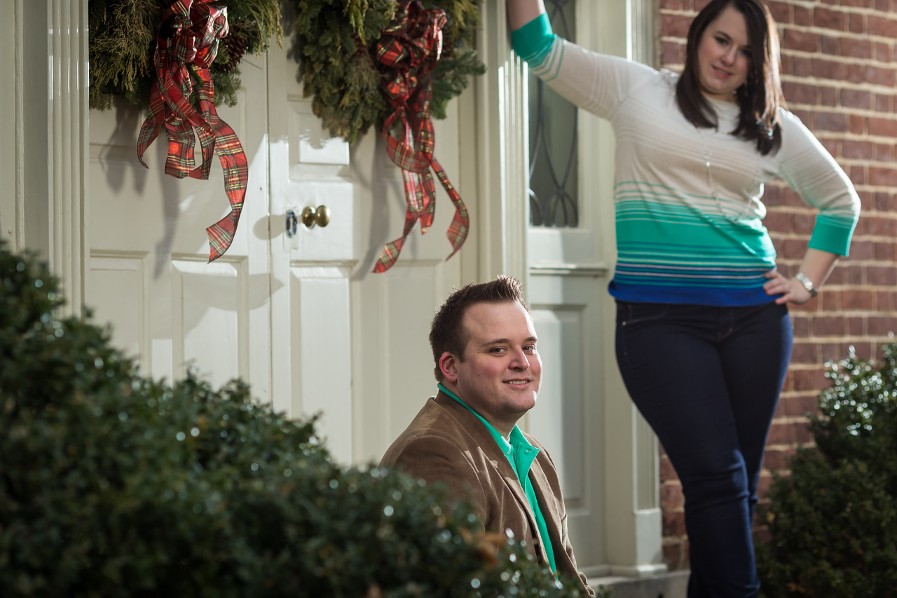 Stephanie & Cullen's Engagement session at Lexington's Gratz Park and Keeneland 12.30.13.
