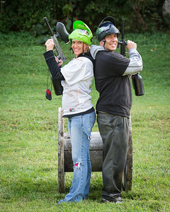 """Stormie & Kurt's """"Wedding Party Paintball"""" outing 9.12.13."""