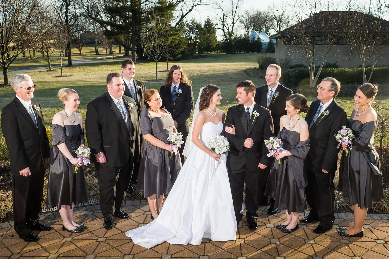 Whitney & Joel's wedding day at Lexington's Marriott Griffin Gate 2.23.13