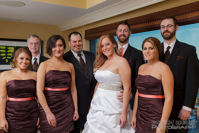 Eric and Samantha Wedding party.