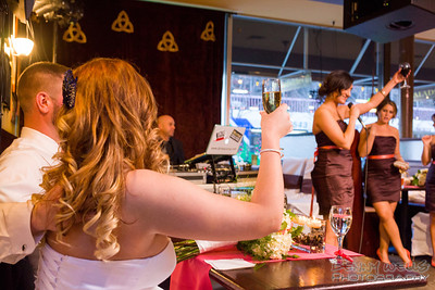 Eric and Samantha Toast from the bridesmaids.