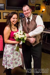 Eric and Samantha Garter and Bouquet.