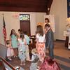 Grandchildren bringing us roses