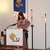 Pam's Godchild, Amy, reading a poem