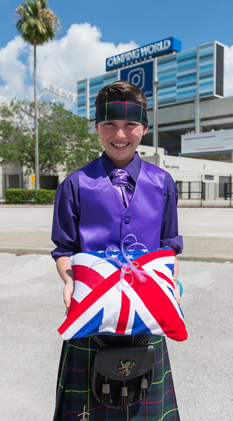Colin and Sherry Wedding, Camping World Stadium & Broken Cauldron, Orlando, 17th June 2017 (Photographer: Nigel G Worrall)