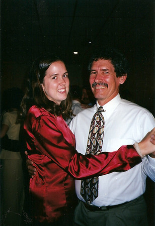 Catherine & her Dad at Colleen & Chris' Wedding reception   10/97