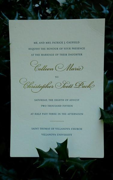 Colleen & Chris Pack Wedding Aug 8, 2015